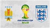 Уругвай 2 - 1 Англия (19 июня 2014). Обзор матча