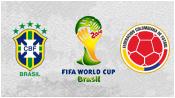 Бразилия 2 - 1 Колумбия ( 4 июля 2014). Обзор матча