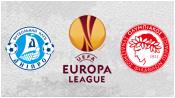Днепр 2 - 0 Олимпиакос (19 февраля 2015). 1-й тайм